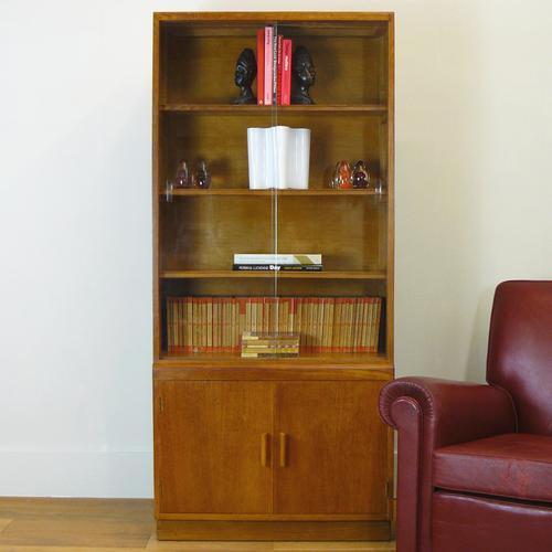 Great CC41 Post War British Oak Glazed Bookcase Cabinet (1 of 15)