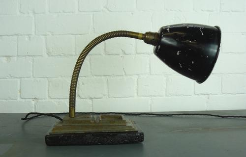 A Sensibly Sized 1930s British Gooseneck Desk Lamp Fully Rewired Etc (1 of 1)