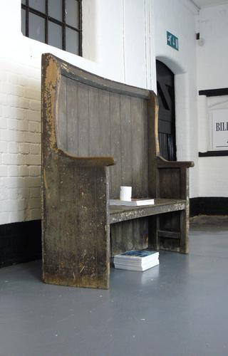 A Wonderfully Original Aged Country Settle C1860 (1 of 1)