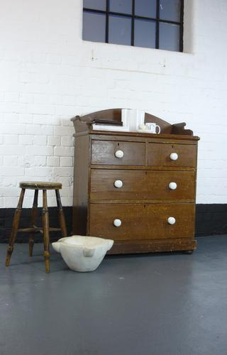 Stout Victorian Chest of 4 Drawers Original Paint (1 of 1)