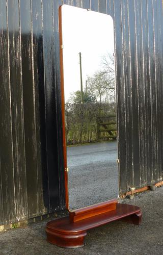 A Cracking 1950's Mid Century Full Height Freestanding Shop Mirror (1 of 1)