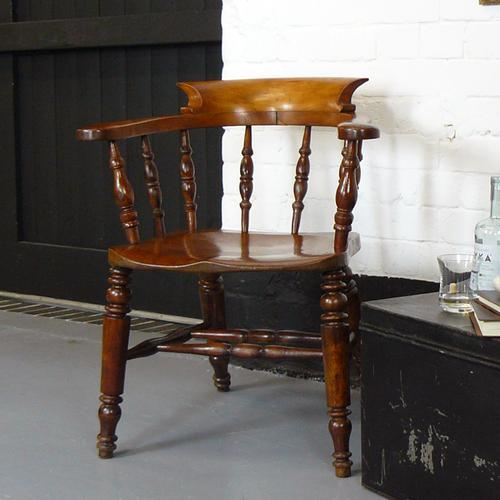 Victorian Bow Smokers Captains Chair (1 of 1)