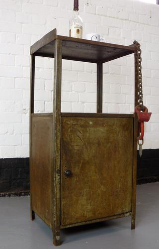 English Vintage 1940 / 1950 Metal Factory Cabinet Super Patina & Look (1 of 1)