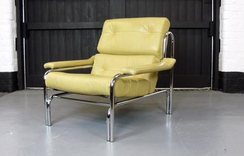 Deep Cream Leather Pieff Alpha Armchair (1 of 1)