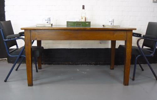 1 X Vintage Oak Neat Sized Double End Library Table Desk C.1938 (1 of 1)