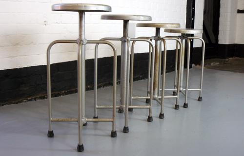 4 Vintage 1950s Swivel Medical Stools – Set 1 (1 of 1)