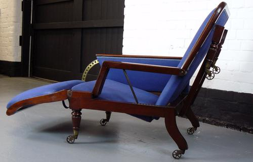 Very Stylish Victorian Adjustable Armchair / Lounger (1 of 1)