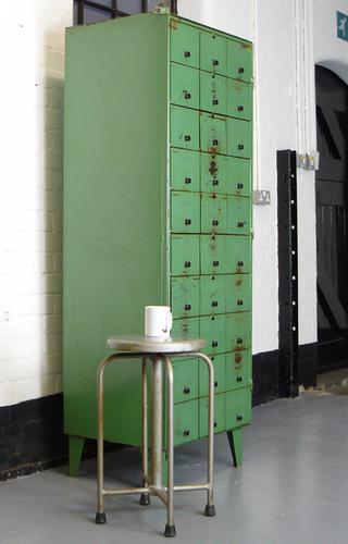 Great Bank of 30 Small Compartment Industrial Lockers (1 of 1)