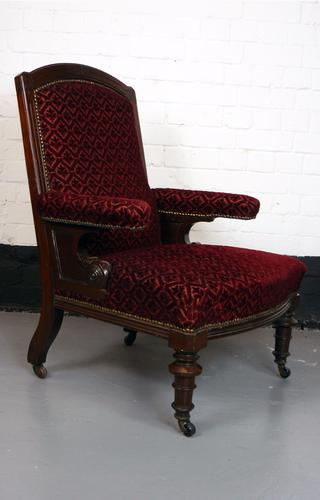 Victorian Gothic Revival Armchair of Smaller Proportions (1 of 1)