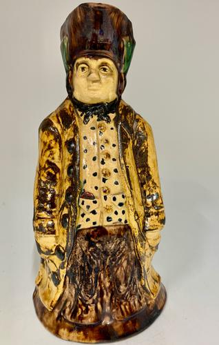 Antique Staffordshire Creamware Thin Man Toby of Ralph Wood Type c.1850 (1 of 8)
