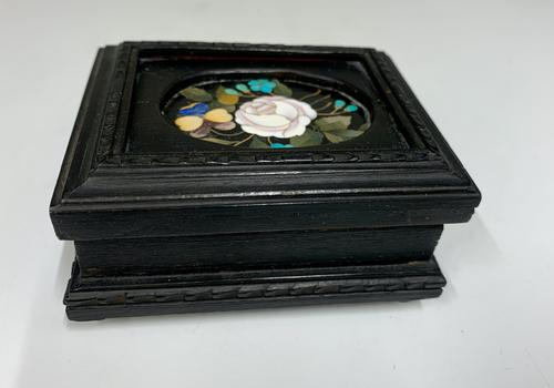 Ebonised & Inlaid Ring Box c.1925 (1 of 6)