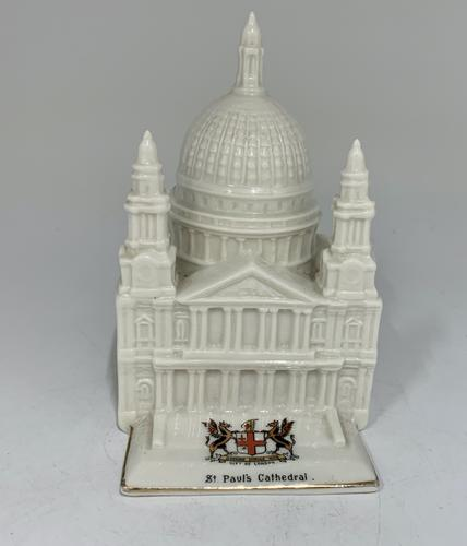 Antique Crested China City of London St Pauls Cathedral (1 of 7)