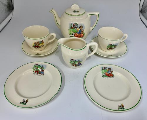 English Ceramic Childs Nursery Part Tea Set c.1930 (1 of 4)