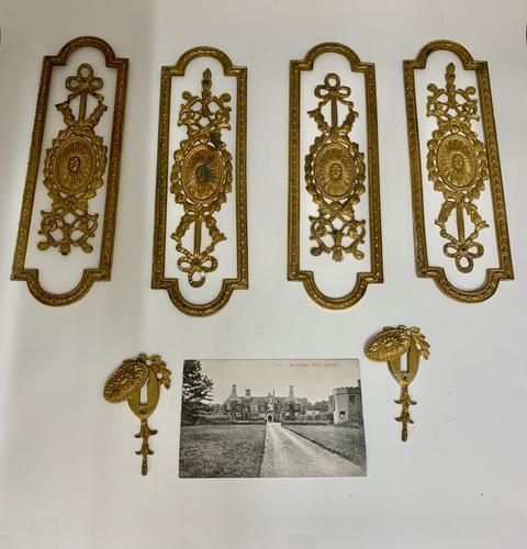 Antique Gilded Brass Door Furniture c.1830 (1 of 8)