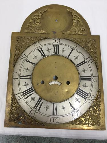 Antique Brass Longcase / Grandfather Clock Arch Dial c.1770 (1 of 1)