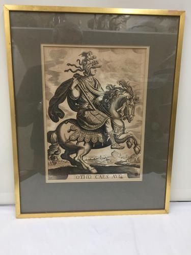 Antique Set of 4 Black & White Prints 'Roman Soldiers' c.1820 (1 of 1)