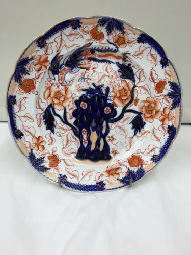 Victorian Staffordshire Potteries Plate Imari Ironstone Pattern c.1850 (1 of 1)