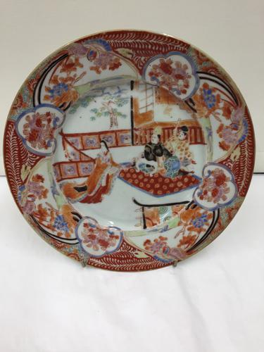 Antique Oriental Porcelain Plate circa 1830 (1 of 3)