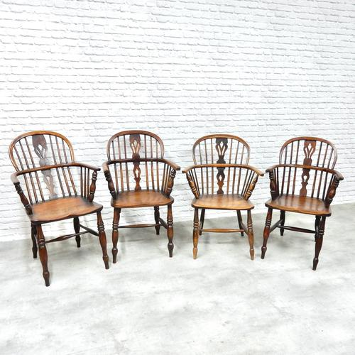 4 X Windsor Lowback Armchairs (1 of 9)