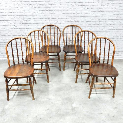Set of 6 Windsor Kitchen / Dining Chairs (1 of 6)