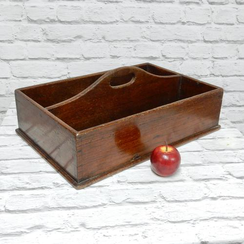 19th Century Mahogany Cutlery Tray (1 of 3)