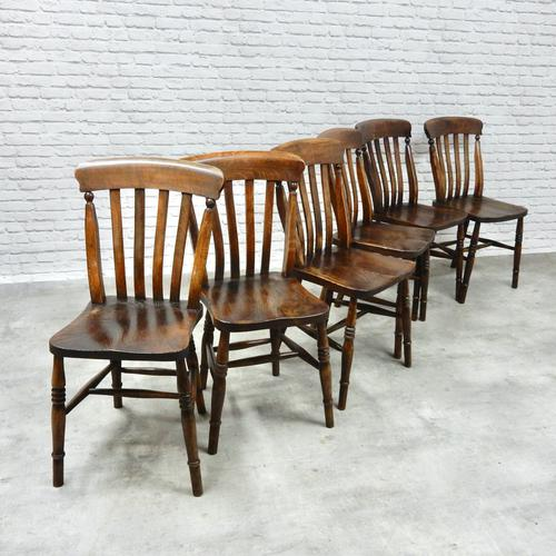 Set of 6 Vintage Windsor Kitchen Chairs (1 of 6)