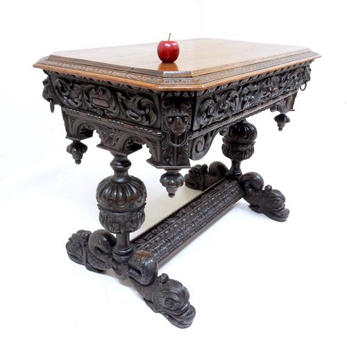 Carved Oak Centre Table (1 of 1)