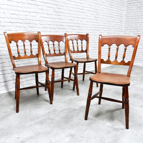 Set of 4 Windsor Kitchen / Dining Chairs C.1890 (1 of 1)