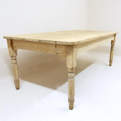 Large Pine Kitchen Table c.1900 (1 of 1)