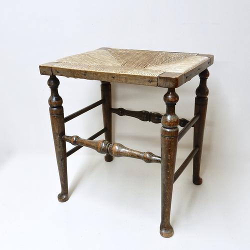 Rush-Seated Stool (1 of 1)
