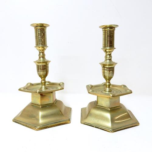 Pair of Heavy Brass Candlesticks (1 of 1)