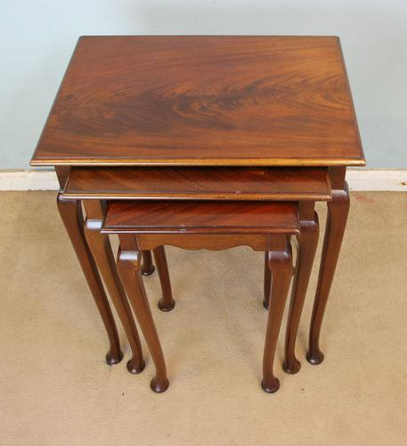 Nest of Three Mahogany Tables (1 of 7)