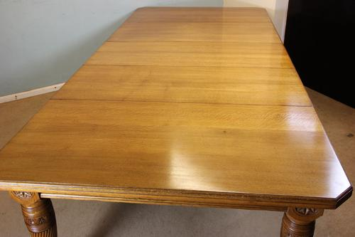 Antique Victorian Large Oak Extending Farmhouse Dining Table (1 of 1)