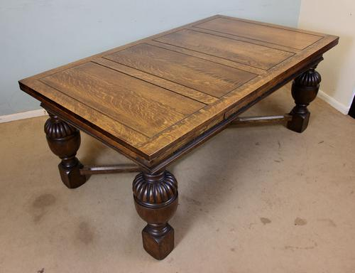 Large Draw Leaf Dining Table C.1920 (1 of 1)
