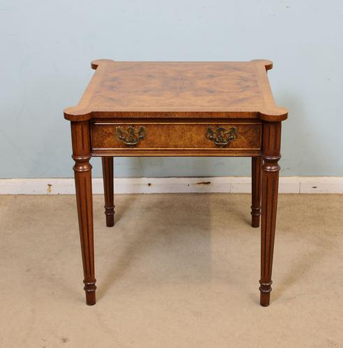 Quality Burr Walnut Lamp Table / Occasional Centre Table (1 of 1)