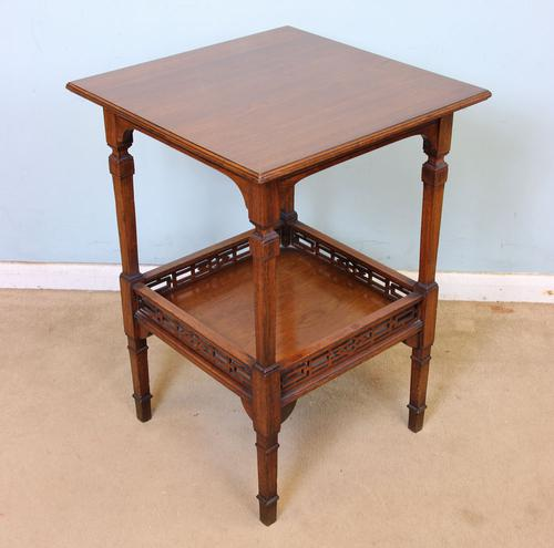 Antique Victorian Walnut Lamp Table / Occasional Table (1 of 1)
