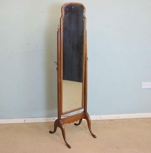 Mahogany Cheval Dressing Mirror (1 of 1)