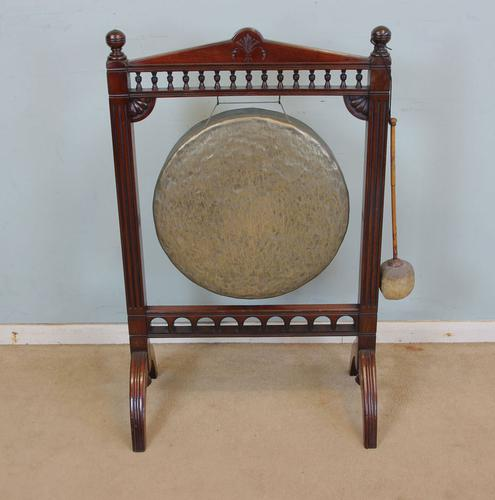 Antique Victorian Mahogany Dinner Gong (1 of 1)