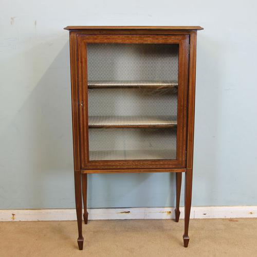Antique Inlaid Display Cabinet C.1910 (1 of 1)
