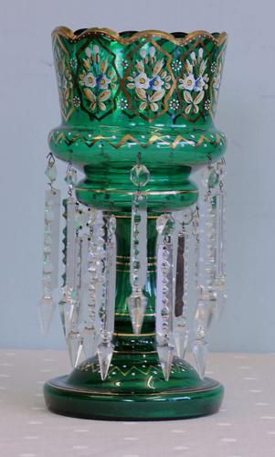 Antique Victorian Mantle / Table Lustre (1 of 9)