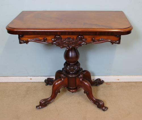 Antique Victorian Mahogany Tea Table / Side Lamp Table (1 of 1)