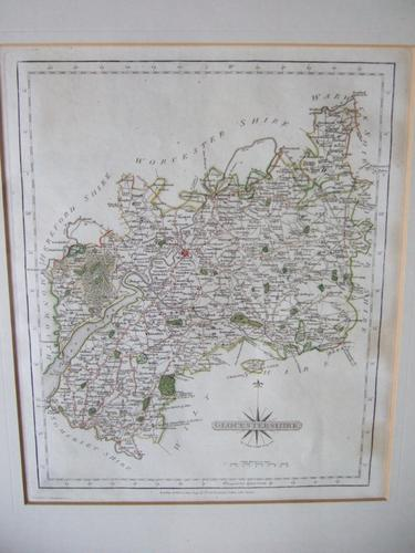 Late 18th Century Map of Gloucestershire by John Cary (1 of 7)