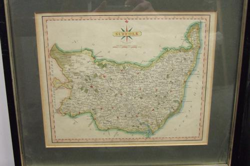 18th Century Map of Suffolk by John Cary (1 of 1)