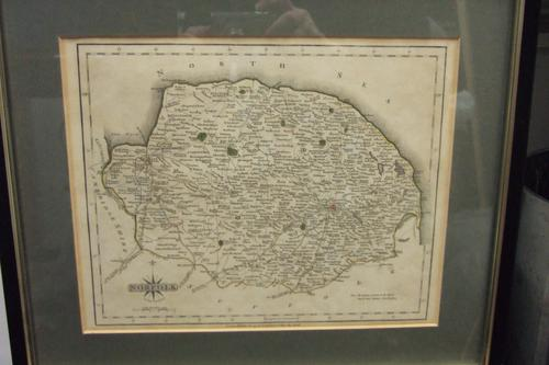 18th Century Map of Norfolk by John Cary (1 of 1)