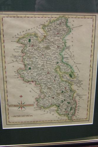 18th Century Map of Buckinghamshire by John Cary (1 of 1)