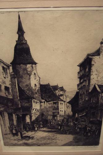 Louis Whirter Etching of Dinan, Brittany (1 of 1)