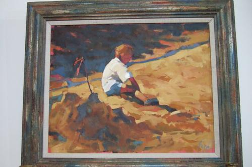 Patsy Farr - Oil on Canvas of a Boy on a Beach (1 of 1)