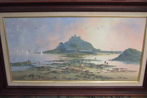 Richard Blowey - Oil on Canvas of St Michael's Mount, Cornwall. (1 of 1)