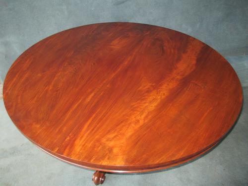 Mahogany Circular Tilt Top Breakfast Table C.1870 (1 of 1)