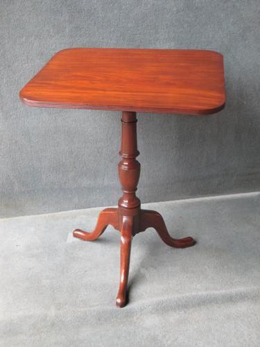 Mahogany Square Tilt Top Tripod Table c.1820 (1 of 1)